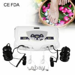 Dual User Ionic Detox Foot Basin Bath Spa Cleanse Foot Massage Machine US Plug