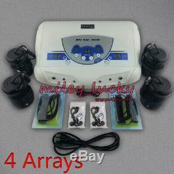 Dual User Ionic Foot Bath Spa Feet Detox Aqua Cell Cleanse Machine w 4 arrays