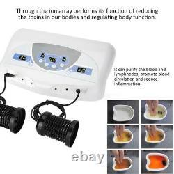 Dual User LCD Ionic Detox Foot Bath Spa Cleanse Detoxification +2 Arrays CE