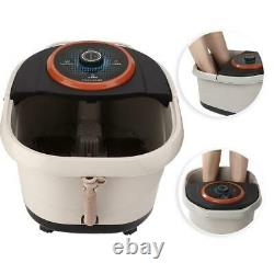 Electric Foot SPA Bath Massage Bubble Heating Vibration Pedicure Soak Tub Roller