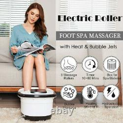 Ellectric Foot Massager Spa Bath with Massage Rollers Heat Bubbles Temp Timer