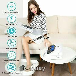Energizer Detox Dual Ionic Detox Foot Bath Spa Machine LCD Cell Cleanse Machine