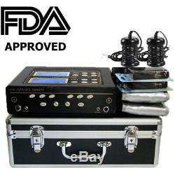 FDA Dual User Foot Bath Spa Machine Ionic Detox Cell Cleanse withLCD+5 Modes+Belts