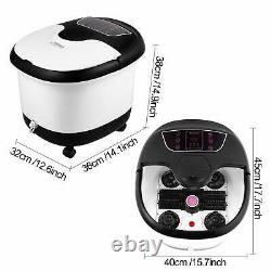 Feet Bath Spa with Heat and Massage 8 Massage Balls and Rollers with Heat, White