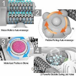 Foot Bath+Heat&Massage&Bubbles Foot Spa Massager Foot Stone, Digital Adjustable
