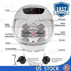 Foot Bath+Heat&Massage&Bubbles Foot Spa Massager Warm Water Healing Therapy