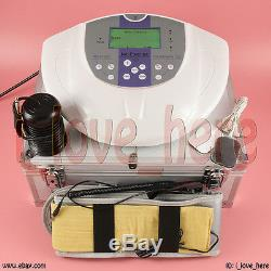 Foot Detox Ion Foot Bath Spa Cell Cleanse Set Therapy Pads Fir Belt Aluminum Box