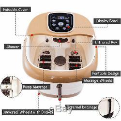 Foot Massager Tem/Time Set Heat Bubble Vibration Spa Bath Tired Feet Treatment