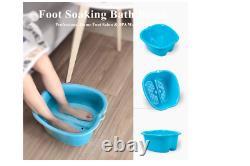 Foot Soaking Bath Home Feet Spa Tub Wash Basin Leg Bucket Detox Massage Pedicure
