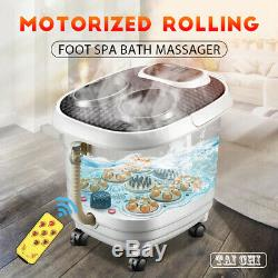 Foot Spa Bath Digital Massager Therapy Vibration Heater Relax Bubble Pedicure