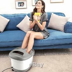 Foot Spa Bath Massage&Bubbles Ergonomic Self-Drainage & Mover Wheels Free ship