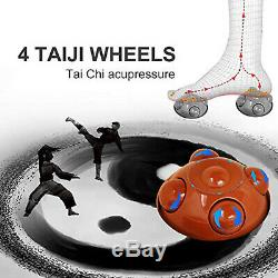 Foot Spa Bath Massager Adjustable Heat Bubble Hot Water Fall with 4 Rollers Wheels