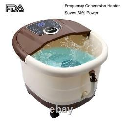 Foot Spa Bath Massager Automatic Massage Rollers Heat Temperature with Wheels Home