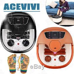 Foot Spa Bath Massager Automatic Massage Rollers Heating Soaker Bucket Home US
