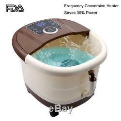 Foot Spa Bath Massager Bubble Heat, 16 Pedicure Spa Motorized Shiatsu Roller