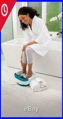 Foot, Spa Bath Massager Bubble Massage Heat Soaker Soak Tub Pedicure Portable