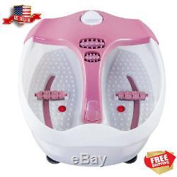Foot Spa Bath Massager Heat Massage Pedicure Feet Vibration Tub Soak Relax Roll
