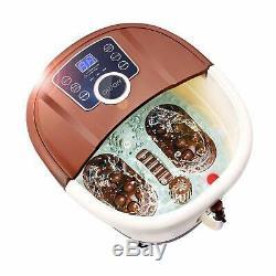 Foot Spa Bath Massager Heat Pedicure Motorized Shiatsu Roller Relax Feet Toes