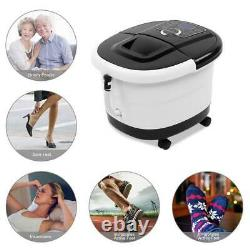 Foot Spa Bath Massager Heat Soaker Massage Bubble Roller Deep Soak Heat Timer