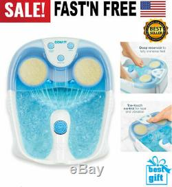 Foot Spa Bath Massager Heat Soaker with Waterfall Vibration Bubble Roller Relax