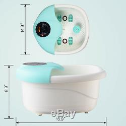 Foot Spa Bath Massager LCD Display Tem/Time Control Bubble Heat Infrared Relax