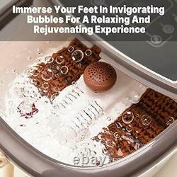Foot Spa Bath Massager Motorized Foot Heat Massage Jet Powerful Infrared Shiatsu