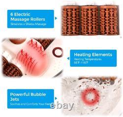 Foot Spa Bath Massager Motorized Massage Fast Heating And Powerful Bubble Jets