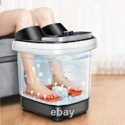 Foot Spa Bath Massager With Heat Oxygen Bubbles Therapy Rolling Vibration