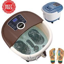 Foot Spa Bath Massager with Heat, 16 Pedicure Spa Motorized Shiatsu Roller Massager