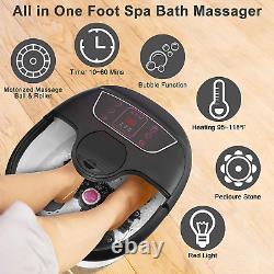 Foot Spa Bath Massager with Heat, Bubble Jets, Pedicure Stone, Motorized Shiatsu