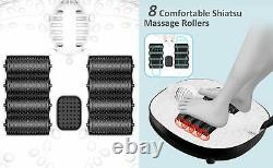 Foot Spa Bath Massager with Heat Bubbles, 8 Removable Massage Rollers