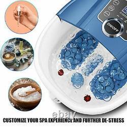 Foot Spa Bath Massager with Heat Bubbles, Shiatsu Massage Rollers, Time & Temper