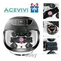 Foot Spa Bath Massager with Heat Bubbles Vibration Massage Rollers Temp Timer&