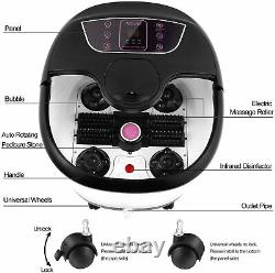 Foot Spa Bath Massager with Heat Bubbles Vibration Massage Rollers Temp Timer US