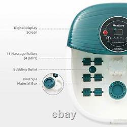 Foot Spa/Bath Massager with Heat, Bulbbles, and Vibration, Digital Temperature