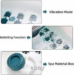Foot Spa/Bath Massager with Heat, Vibration, Bulbbles, Digital Temperature Contr