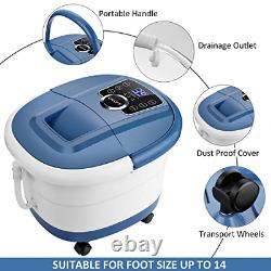 Foot Spa Bath Massager with Heat and Bubbles, Foot Bath Spa with16 Motorized Foot