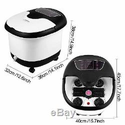 Foot Spa Bath Massager with Heat and Motorized Rollers Digital Adjustable US