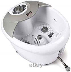 Foot Spa Bath Massager with heat, HF vibration, O2 bubbles, Pedicure Therapy, New