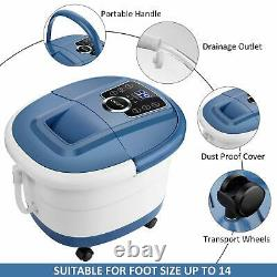 Foot Spa Bath Motorized Massage Adjustable Time & Temperature with Heat & Bubble