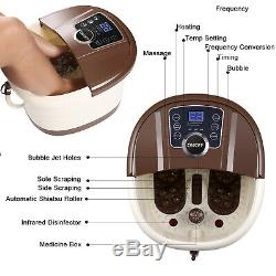 Foot Spa Bath Motorized Massager with Heat, Adjustable Time & Temperature LED