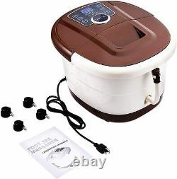 Foot Spa Bath Motorized Massager with Heat Frequency Conversion Red Light