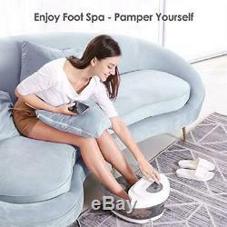 Foot Spa Bath Soaker with Heat Bubbles Vibration and Massage Pedicure