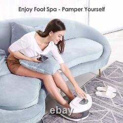 Foot Spa Bath Soaker with Heat Bubbles Vibration and Massage Pedicure Manually