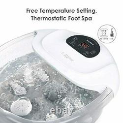 Foot Spa/Bath Soaker with Heat Bubbles Vibration and Massage Pedicure Manually M