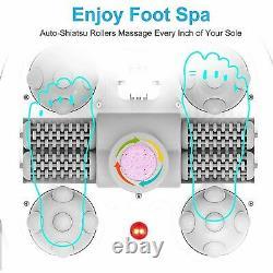 Foot Spa Bath with Heat and Massage Bubbles+Motorized Shiatsu Massage Ball HOME