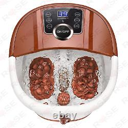 Foot Spa Bath with Heat and Massage and Bubbles, Foot Bath Massager with16 Brown