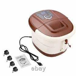 Foot Spa Bath with Heat and Massage and Bubbles, Foot Bath Massager with16 Motoriz