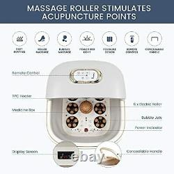 Foot Spa, FSHIBILA Collapsible Foot Soaking Tub with Heat, Bubbles Massage and R