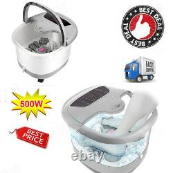 Foot Spa+Heat&Massage Bubbles Foot Bath Massager+Motorized Shiatsu Massage Ball